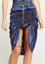Load image into Gallery viewer, TWO TONE DRAWSTRING MINI-MAXI SKIRT