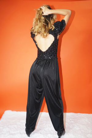 Vintage 80's New Years Eve Party Jumpsuit