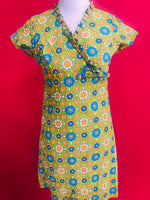 Vintage Flower Power Vibrant Dress