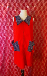 Vintage 70's Apple Red Dress