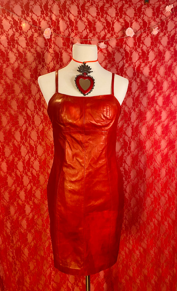 Wild at Heart Vintage Leather Dress