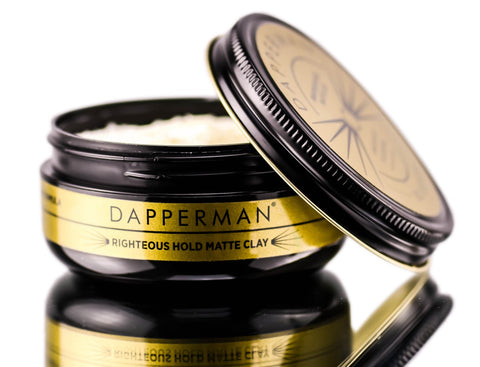 Dapperman Naturally Derived 1.5 oz Righteous Hold Matte Clay