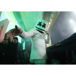 DJ Helmet Mask LED Helmet Music Festival Helmet Full Helmet Rubber Latex Mask for Bar Club Party Novelty Costume