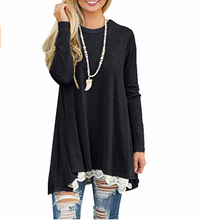 Load image into Gallery viewer, Long Sleeve Tunic,Lace