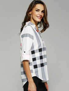 Office House Plaid Top