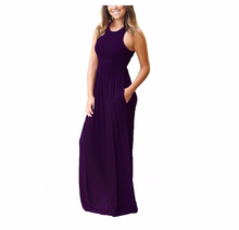 Load image into Gallery viewer, Casual Long Dresses,Sleeveless Maxi Dresses