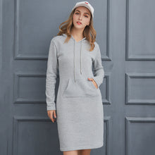 Load image into Gallery viewer, Sweatshirt Long-sleeved Dress