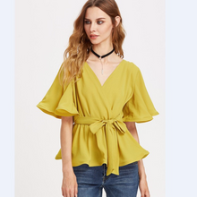 Load image into Gallery viewer, Fashion Drawstring Crop Top