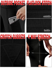 Load image into Gallery viewer, High Waist Out Pocket Yoga Pants Tummy Control Workout Running 4 Way Stretch Yoga Leggings