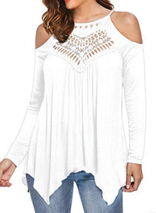 Off Shoulder Blouse Shirts,Casual