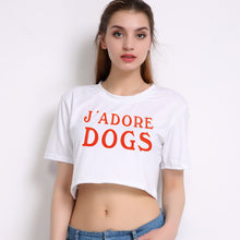 Load image into Gallery viewer, J'ADORE DOGS Short Cropped Short-Sleeved TEE