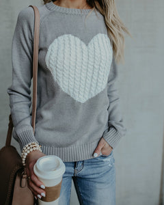 FOLLOW YOUR HEART SWEATER
