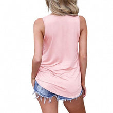 Load image into Gallery viewer, Summer Sleeveless Criss Cross Casual Tank Tops Basic Lace up Blouse