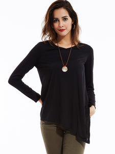 Next Level Long Sleeve Top, Black