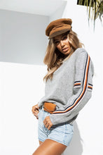 Load image into Gallery viewer, WAMEN FLAG STRIPE GRAY PULLOVER