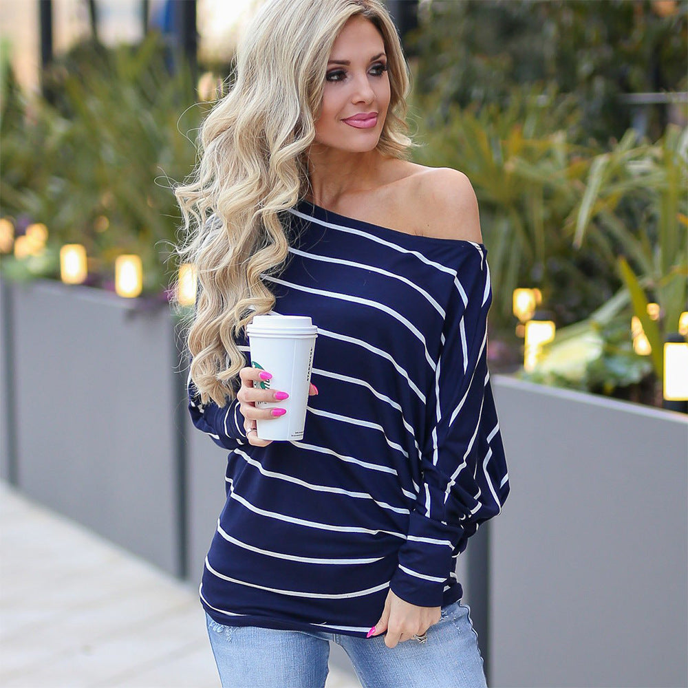 Long Sleeve Stripes Top