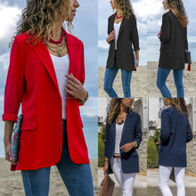 Load image into Gallery viewer, Candy Color Pockets Lapel Slim Women Blazer