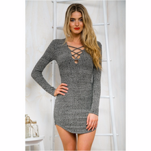Load image into Gallery viewer, Sexy Mini Dress,Gray