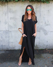 Load image into Gallery viewer, Maxi Dresses,  Long Dress Short Sleeve Split Casual Loose