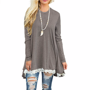 Long Sleeve Tunic,Lace