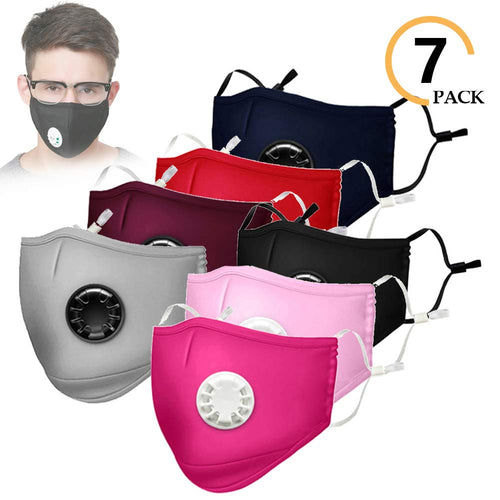 Anti Air Dust and Smoke Pollution Mask Filter Respirator Mouth-Muffle Mask Anti PM2.5 Breathing Mask Cotton Haze Valve Anti-dust Mouth Mask Washable Respirator Breathing Mask