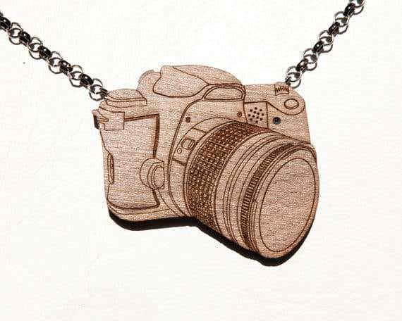not-A-digital camera: A wooden Necklace turned right into a Full-Fledged camera