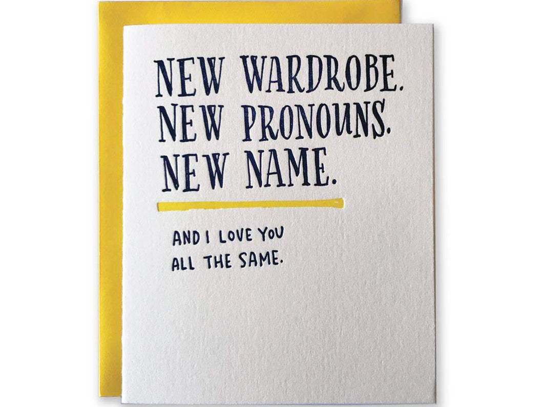 New Wardrobe, Single Card
