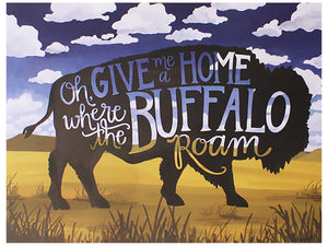 Buffalo Art Digital Print, 16x20in