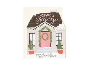 Holiday House Cutout, Boxed Set of 8