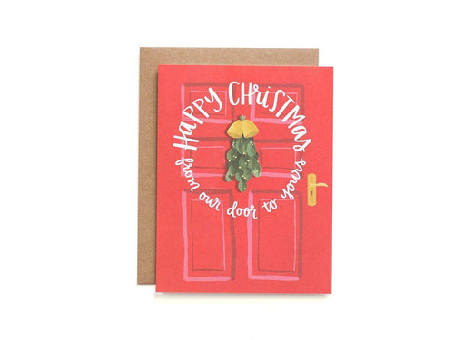 Mistletoe Door, Single Card