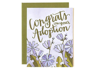 Congrats Adoption Floral, Single Card