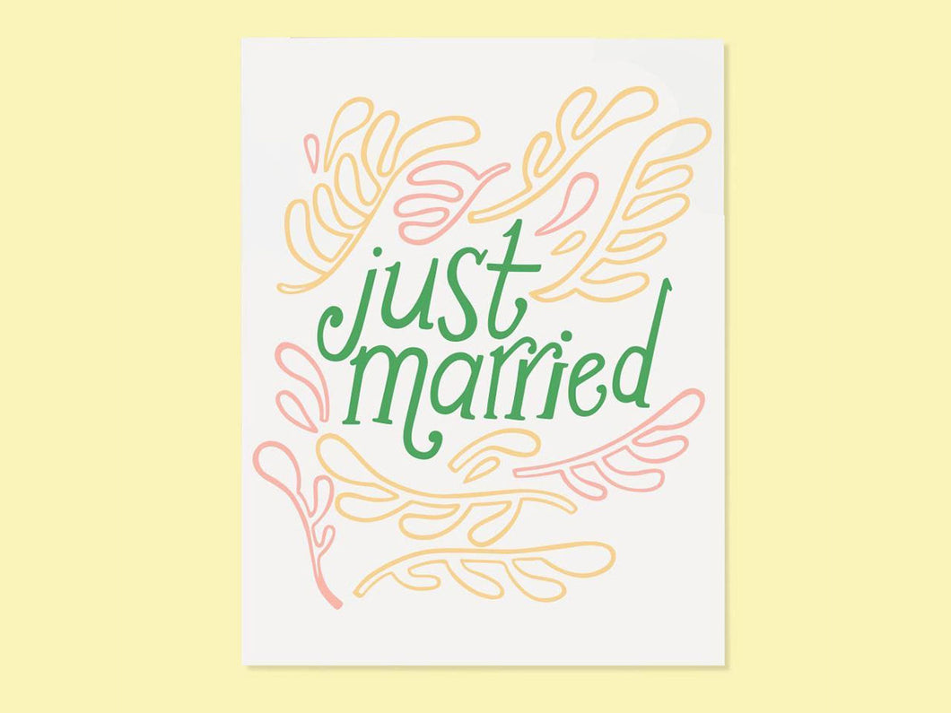 Just Married,Single Card