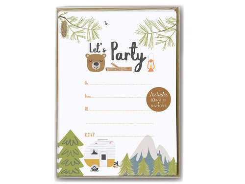 Little Camper, Party Invitations
