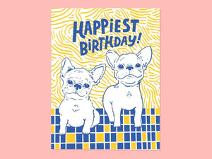 Frenchie Bday, Single Card