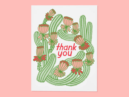 Cactus Thank You, Single Card