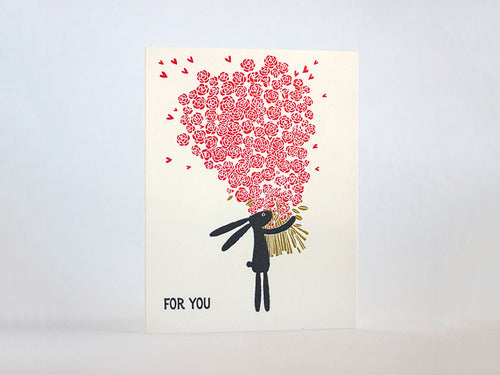 For You Roses Bunny, Single Card