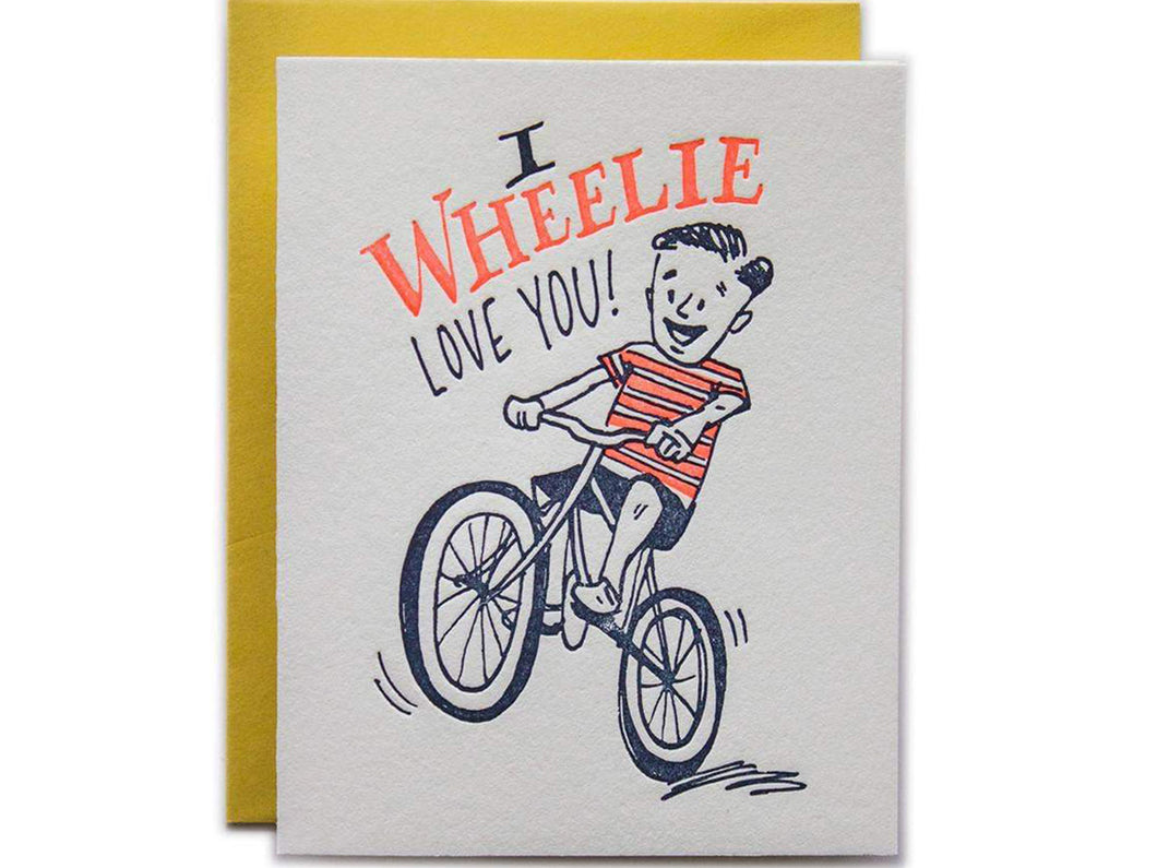 I Wheelie Love You, Single Card