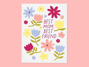 Best Mom Floral, Single Card