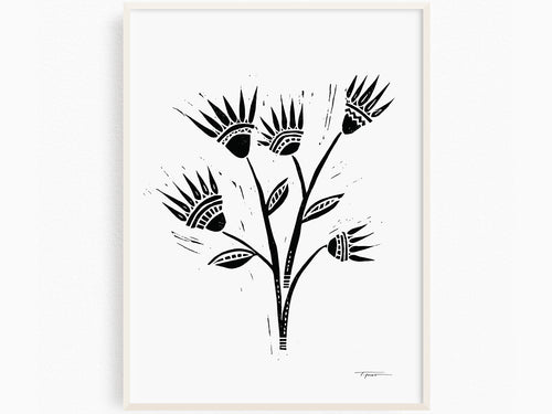 Abstract Flowers, Art Print