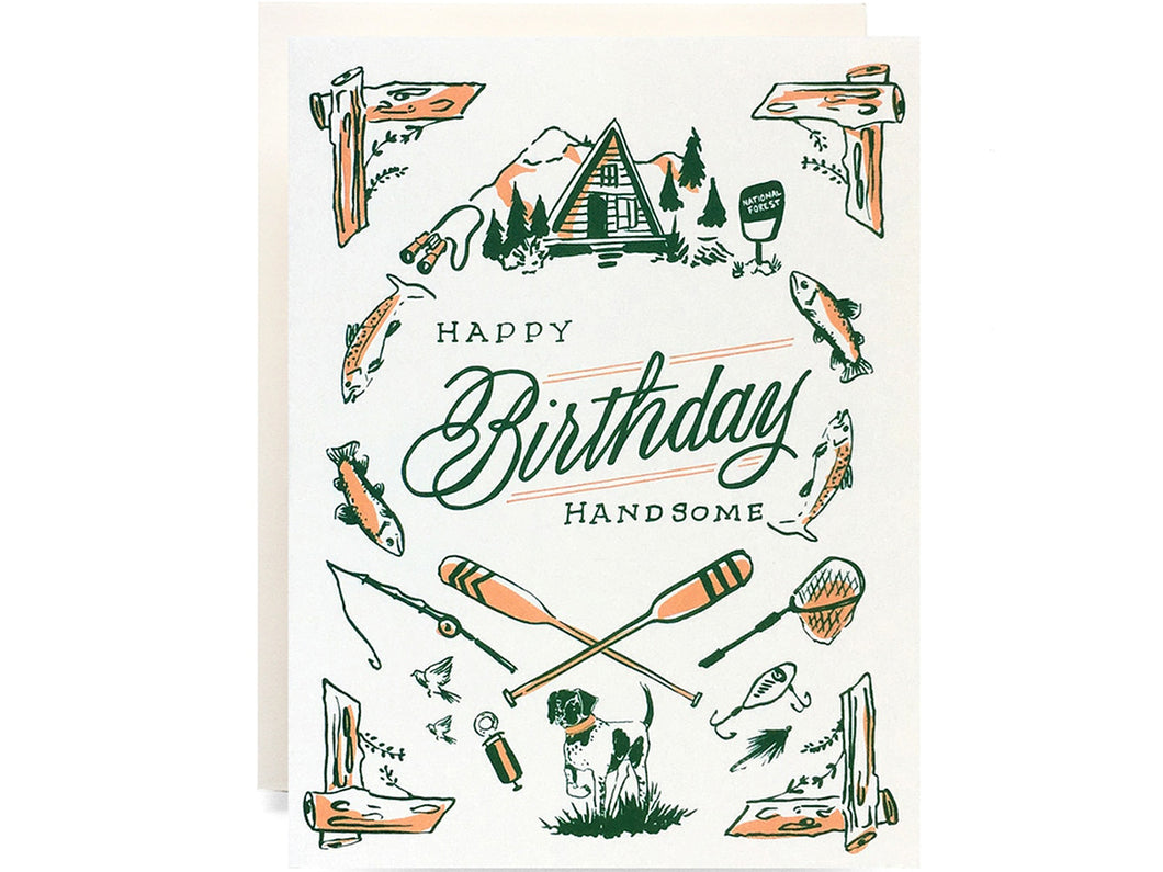Outdoorsman Birthday, Single Card