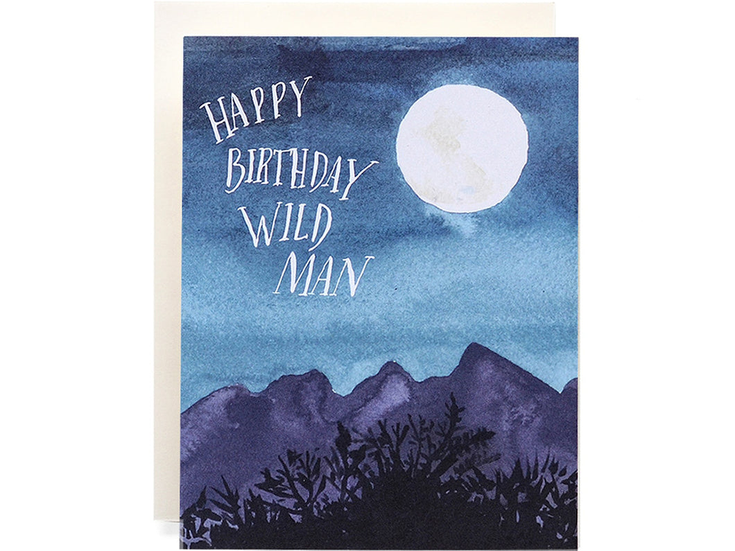 Wild Man Birthday, Single Card