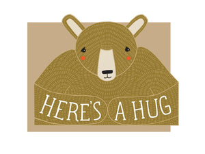 Bear Hug Die Cut, Single Card