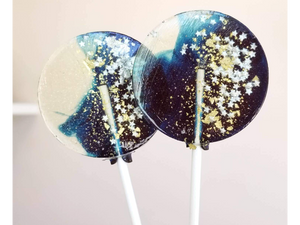 Blueberry, Navy Star Galaxy Lollipops