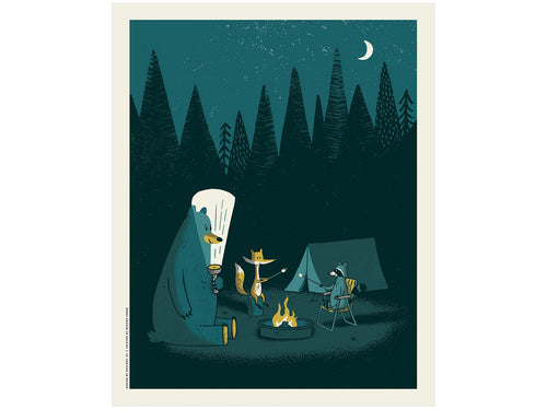 Camping Out, Screen Print