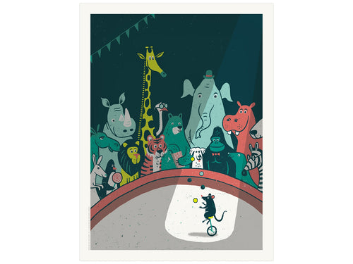 Circus Menagerie, Screen Print