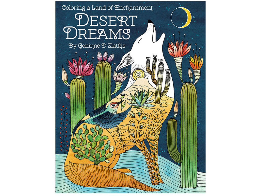 Desert Dreams Coloring Book by Geninne Zlatkis