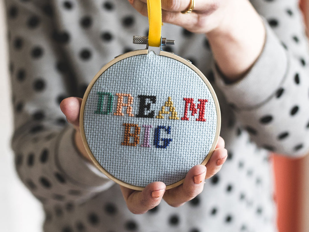 Cross Stitch Kit, Dream Big