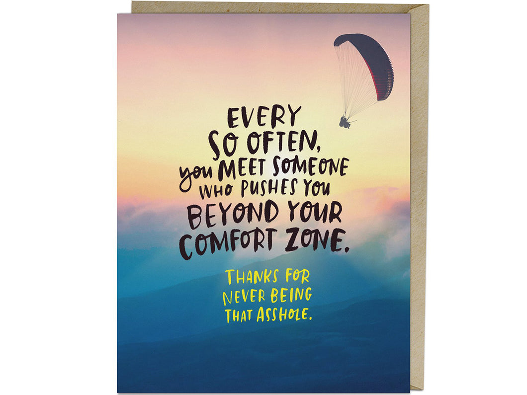 Comfort Zone Card, Single Card