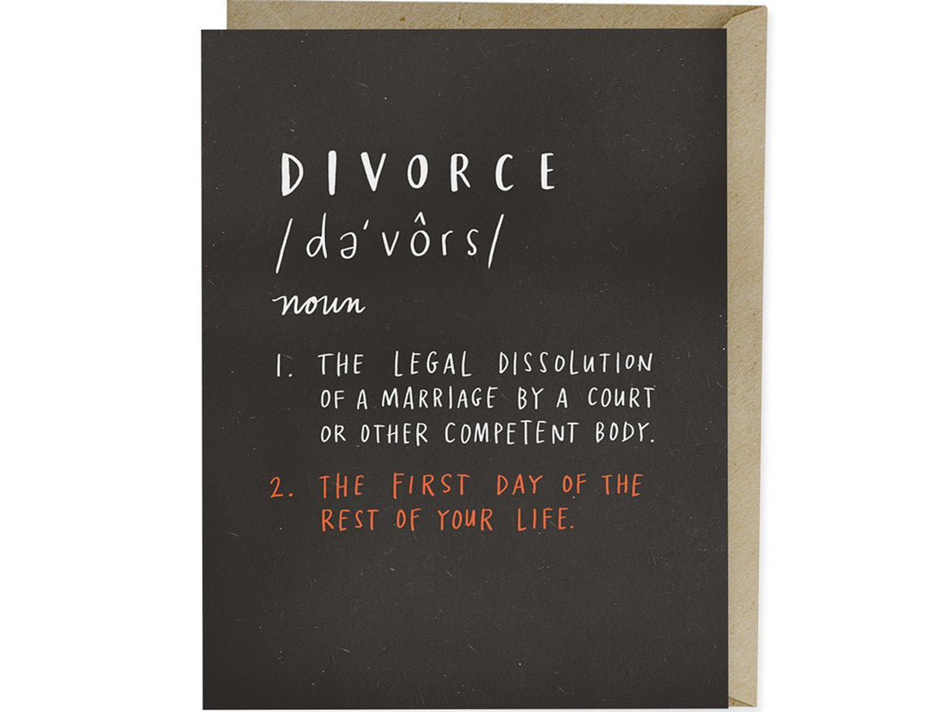 Divorce Definition, Single Card