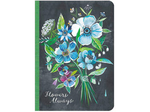 Flowers Always Lined Travel-Size Journal by Katie Daisy
